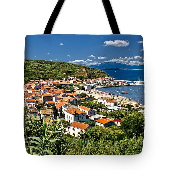 Dalmatian Island Of Susak Village And Harbor Tote Bag