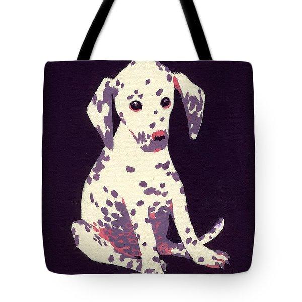 Dalmatian Puppy Tote Bag by George Adamson
