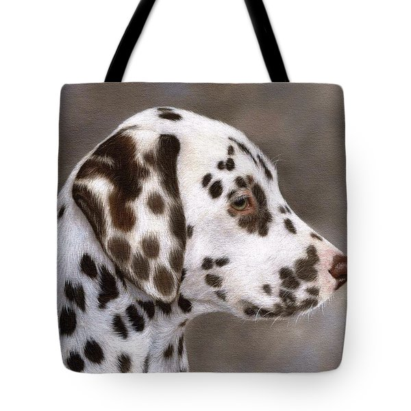 Dalmatian Puppy Painting Tote Bag