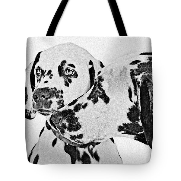 Dalmatians - A Great Breed For The Right Family Tote Bag by Christine Till
