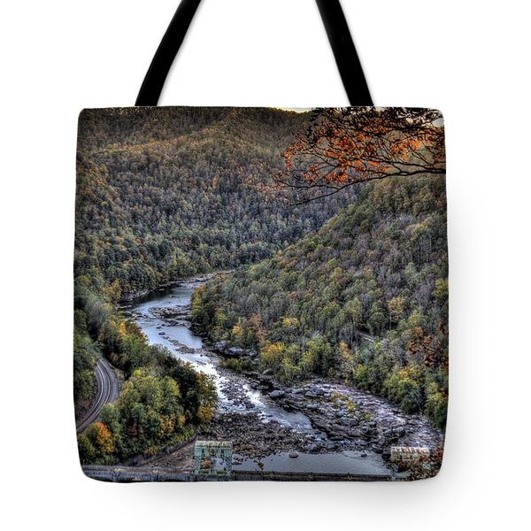 Tote Bag featuring the photograph Dam In The Forest by Jonny D
