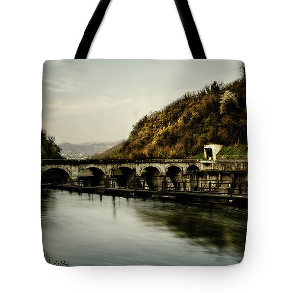 Dam On Adda River Tote Bag