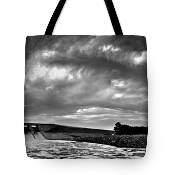 Dam Panoramic Tote Bag