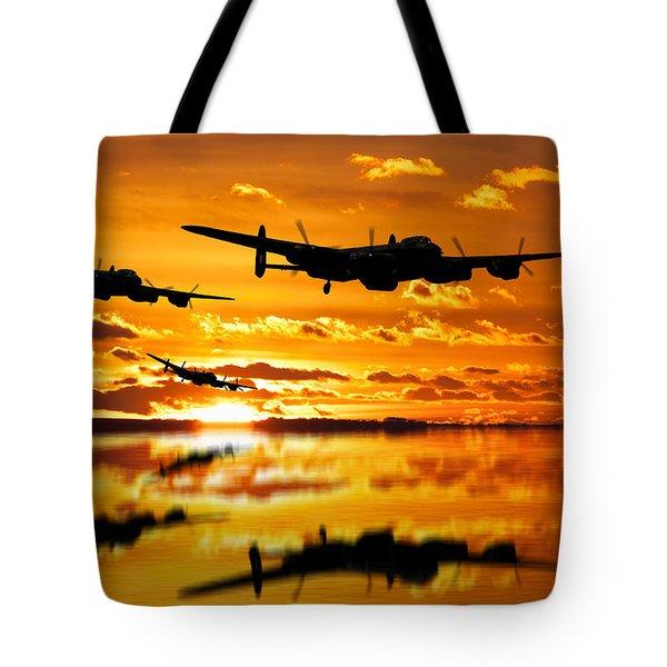 Dambusters Avro Lancaster Bombers Tote Bag
