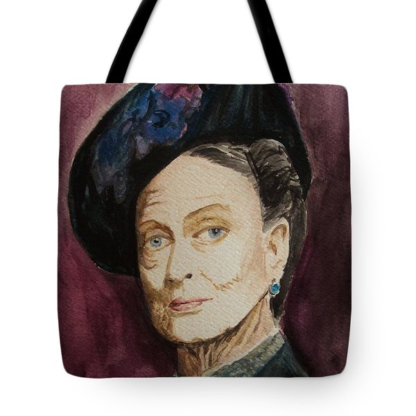 Dame Maggie Smith Tote Bag by Amber Stanford