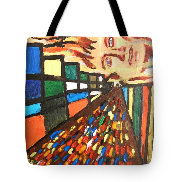 Tote Bag featuring the painting Dame Tessa 01 by Mudiama Kammoh