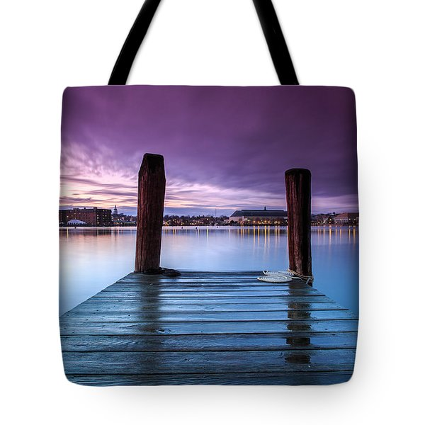Tote Bag featuring the photograph Damp Sunset by Jennifer Casey