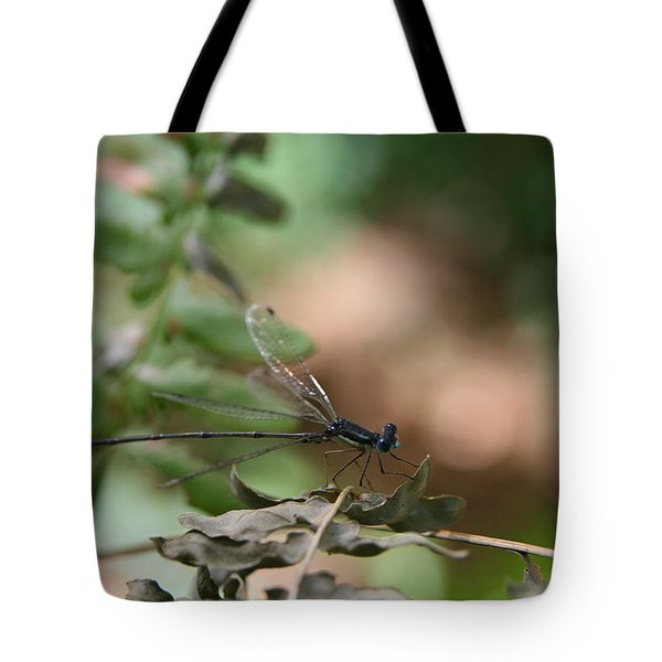 Damselfly Tote Bag by Neal Eslinger