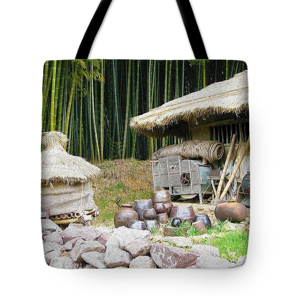 Damyang Bamboo Forests Tote Bag by Lanjee Chee