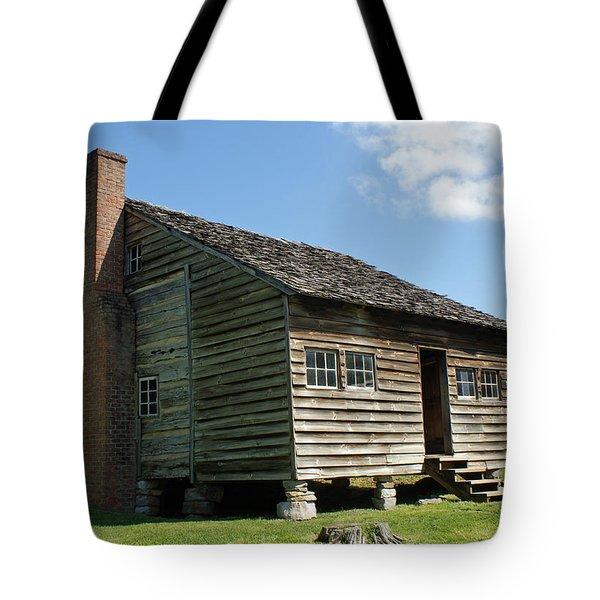 Dan Lawson Cabin In Cades Cove Tote Bag by Roger Potts