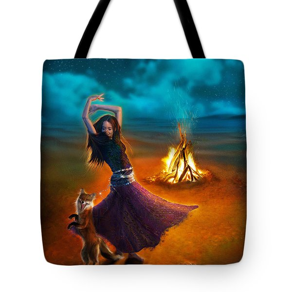 Dance Dervish Fox Tote Bag