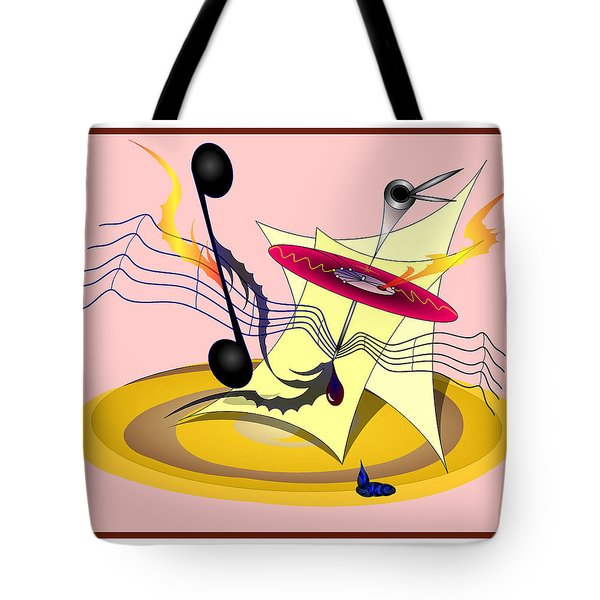 Dance Music Tote Bag