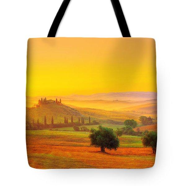 Dance Of Dawn Tote Bag