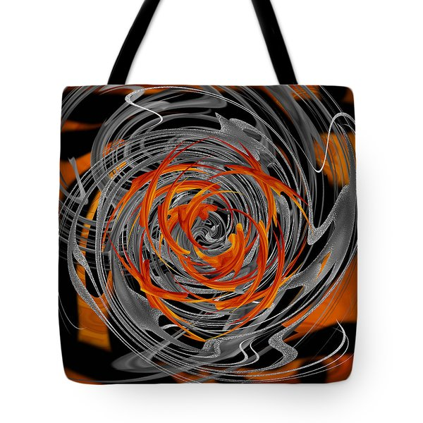 Tote Bag featuring the digital art Dance Of Flame And Smoke by Roy Erickson