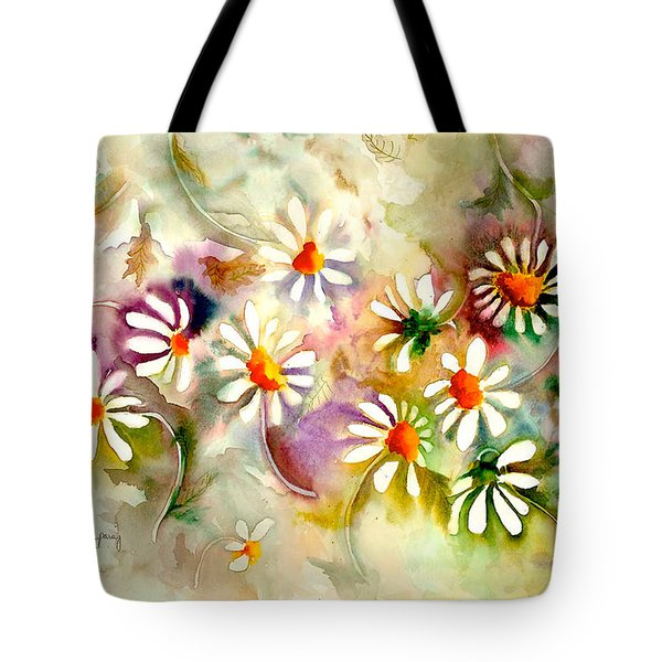 Dance Of The Daisies Tote Bag by Neela Pushparaj