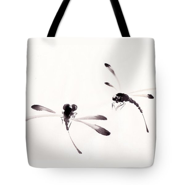 Dance Of The Dragonflies Tote Bag by Oiyee At Oystudio