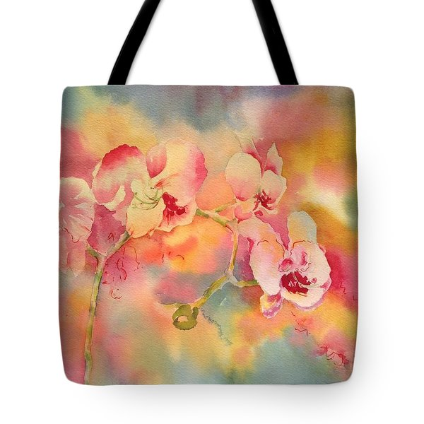 Dance Of The Orchids Tote Bag by Tara Moorman