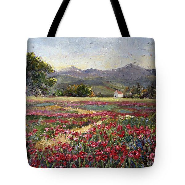 Dance Of The Tulips Tote Bag by Jennifer Beaudet