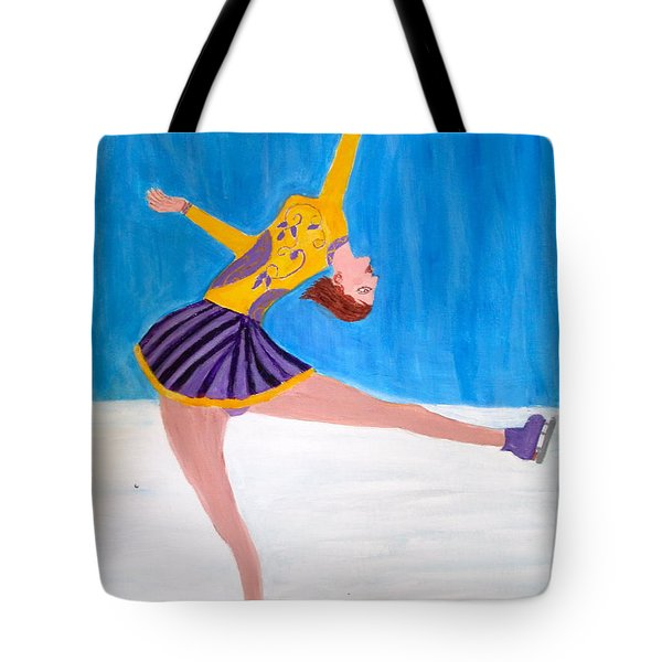 Dance On Ice Tote Bag