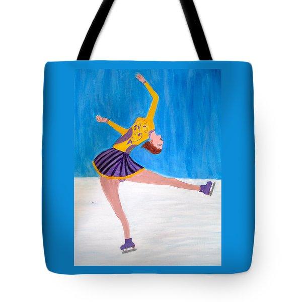 Dance On Ice Tote Bag
