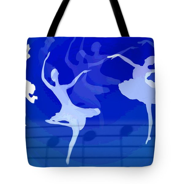Dance The Blues Away Tote Bag by Joyce Dickens