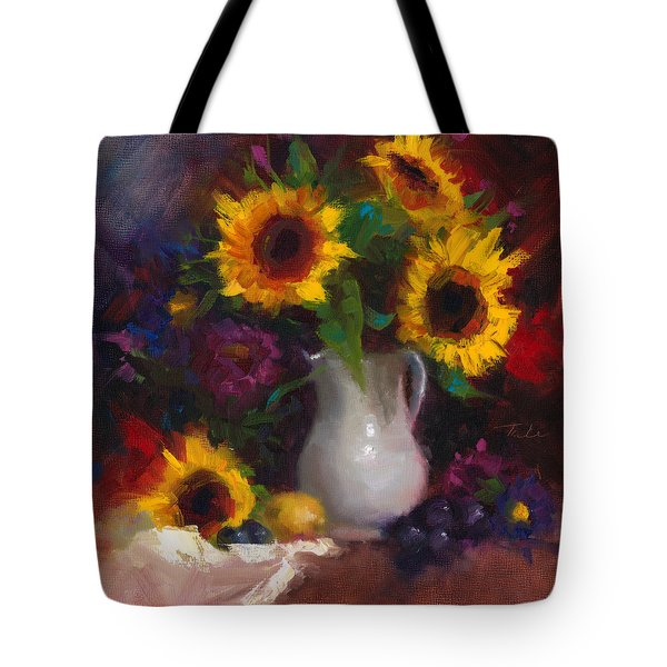 Dance With Me - Sunflower Still Life Tote Bag