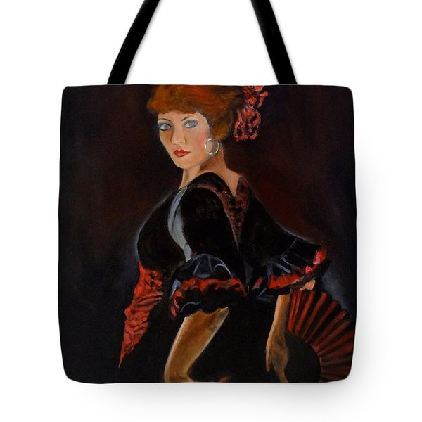Tote Bag featuring the painting Dancer by Jenny Lee
