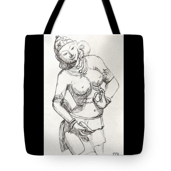Dancer Of India Tote Bag
