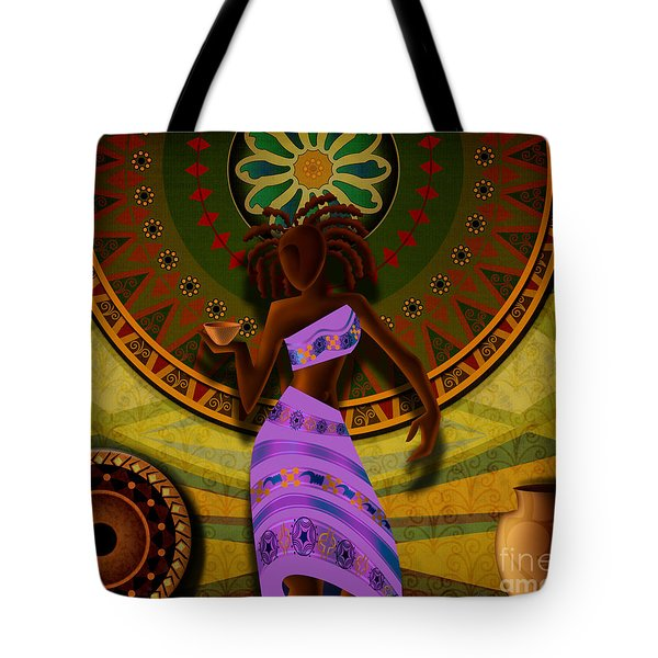Dancer With Cup Tote Bag by Bedros Awak