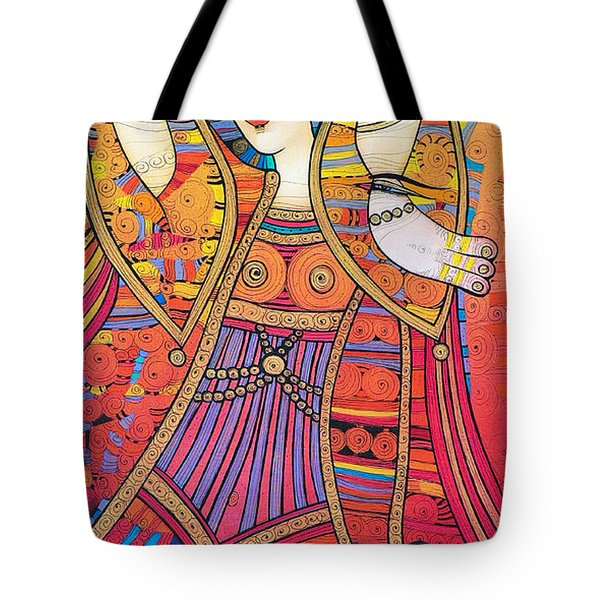 Dancer With Doves Tote Bag