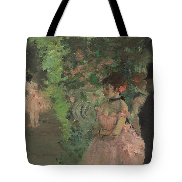 Dancers Backstage Tote Bag by Edgar Degas