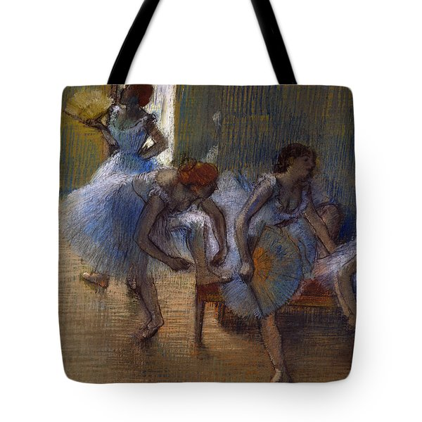 Dancers On A Bench, 1898 Tote Bag