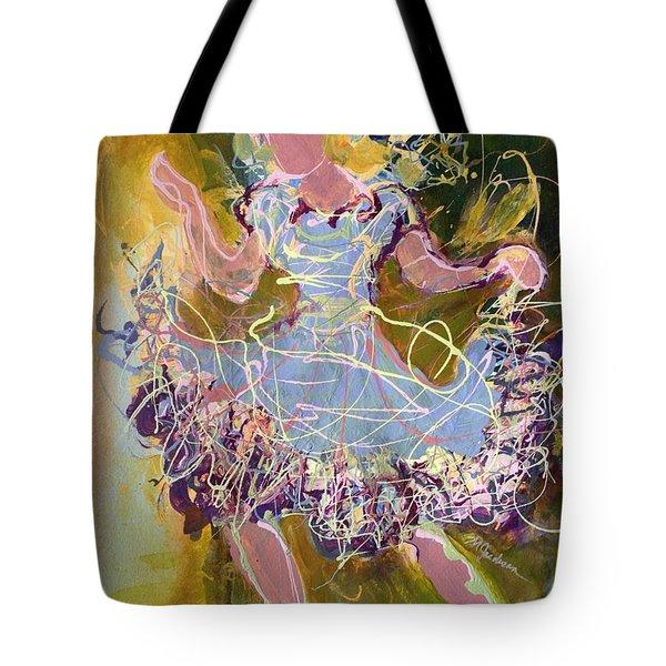 Dancing 1 Tote Bag by Marilyn Jacobson