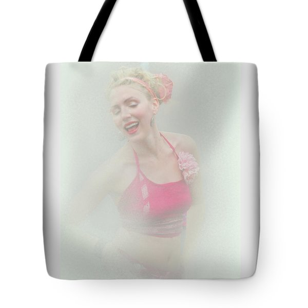 Dancing Around The Tip Of Hysteria Tote Bag by Jeff Burgess