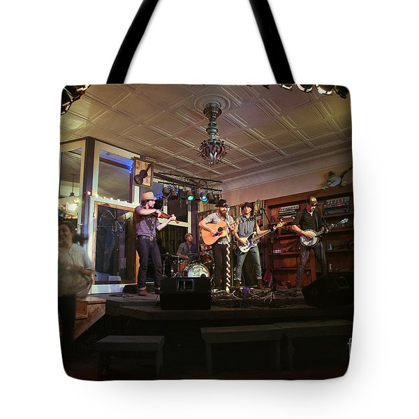 Dancing At The Purple Fiddle With Bryan Elijah Smith And The Wild Heart Band  Tote Bag by Dan Friend