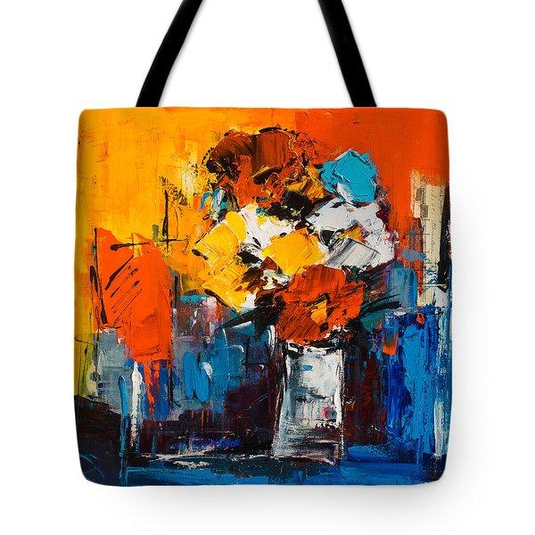 Dancing Colors Tote Bag