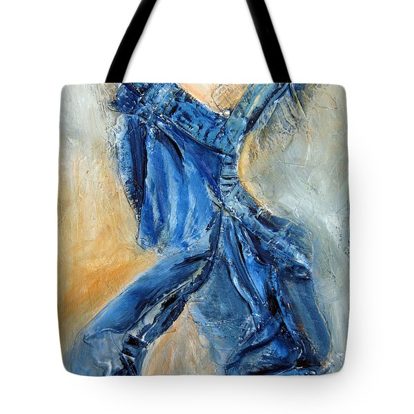 Dancing Denim Tote Bag