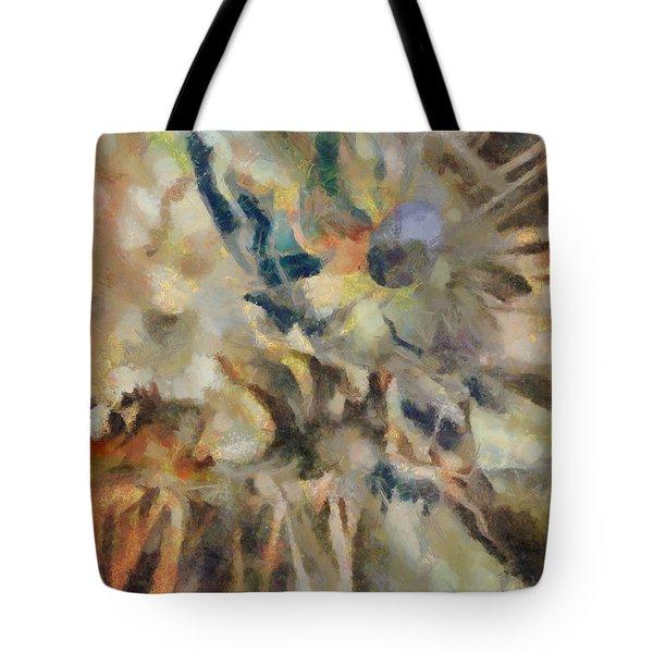 Tote Bag featuring the digital art Dancing Dreams by Joe Misrasi