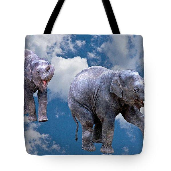 Dancing Elephants Tote Bag by Jean Noren