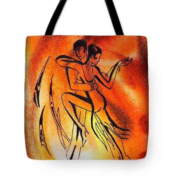 Dancing Fire Iv Tote Bag by Irina Sztukowski