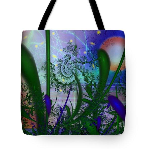 Dancing Fireflies Tote Bag by Faye Symons