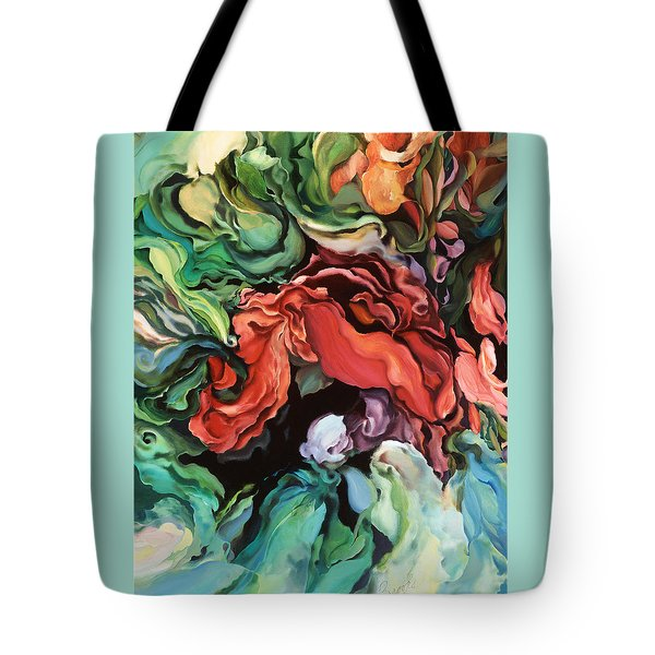 Tote Bag featuring the painting Dancing For Joy by Brooks Garten Hauschild