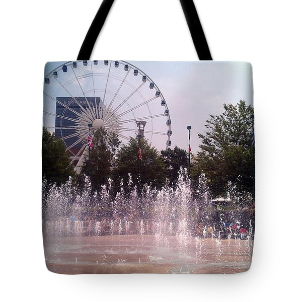 Dancing Fountains Tote Bag