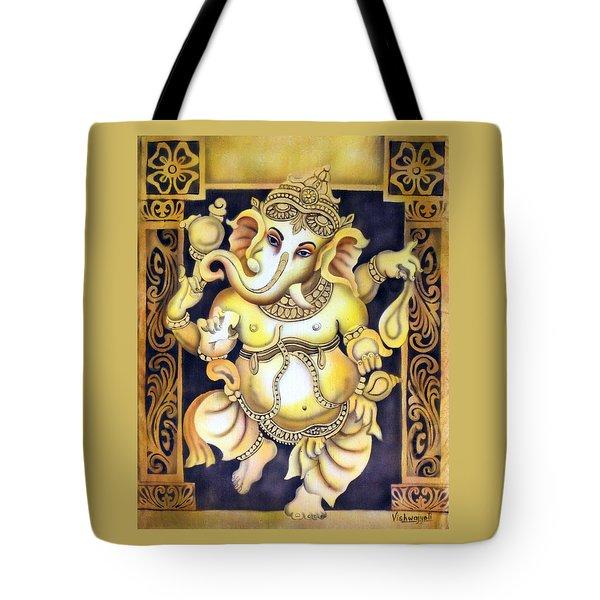 Dancing Ganesh Tote Bag by Vishwajyoti Mohrhoff