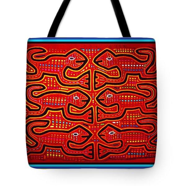 Dancing Geckos Tote Bag