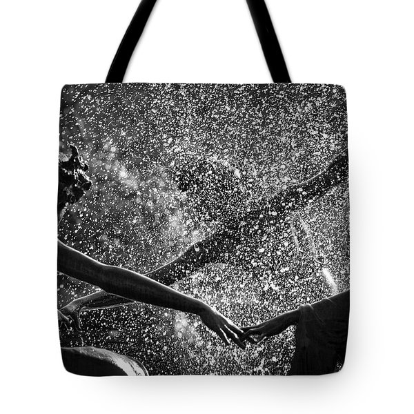 Dancing Girls Of Central Park Tote Bag