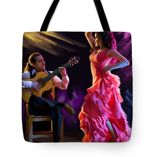 Dancing Gypsy Woman Tote Bag