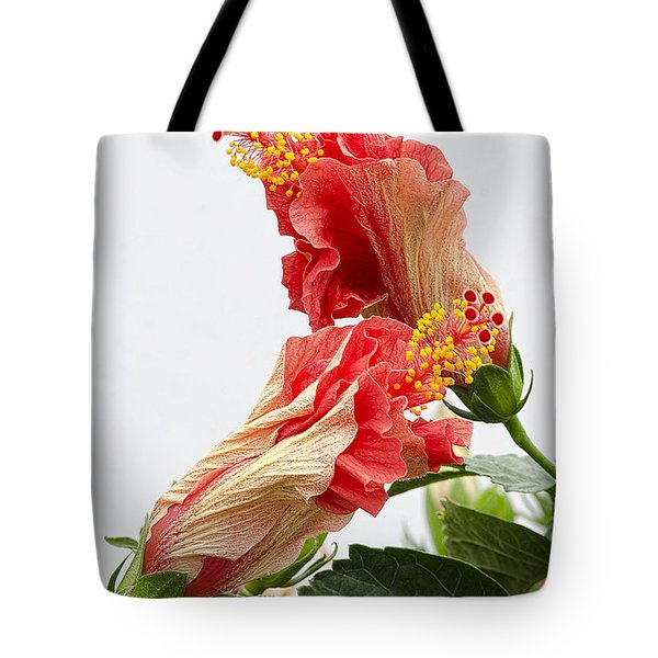 Dancing Hibiscus Tote Bag by Wanda Krack