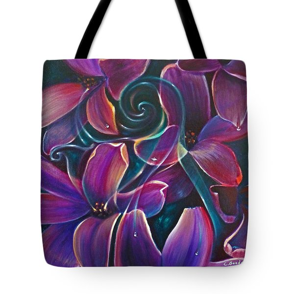 Dancing Hyacinths Tote Bag