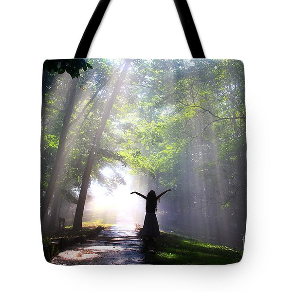 Dancing In God's Light Copyright Willadawn Photography Tote Bag